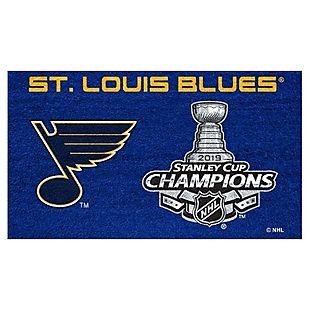 St. Louis Blues Stanley Cup Door Mat $27