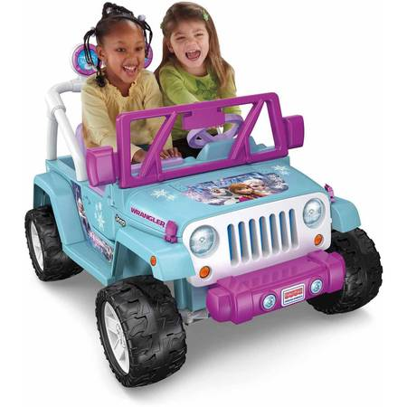 Power Wheels Disney Frozen Jeep Wrangler 12V Battery-Powered Ride-On $179
