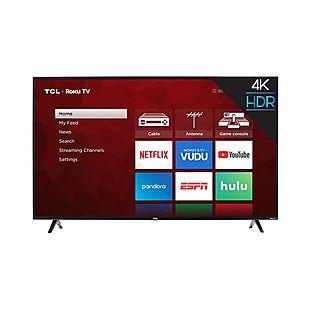 TCL 55″ 4K Roku Smart TV $318 Shipped