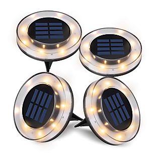 4pk Solar Ground Lights $21 Shipped