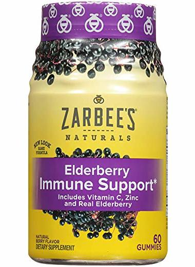 Zarbee's Naturals Elderberry Immune Support Gummies 60-Count Bottle for $12 + free shipping w/ Prime