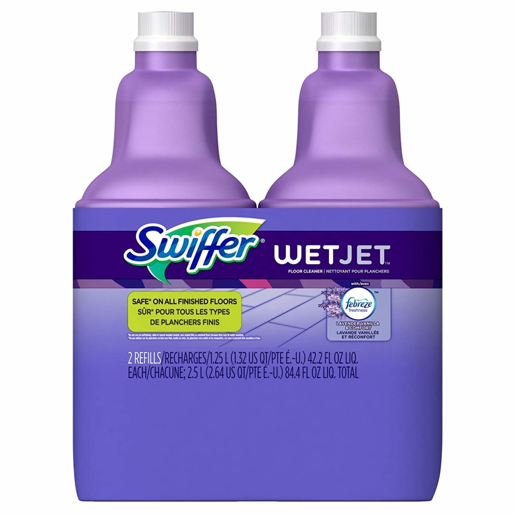 Swiffer Wetjet Floor Cleaner Refill 2-Pack for $7 + free shipping w/ Prime