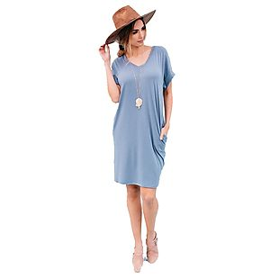 Relaxed-Fit T-Shirt Dress $18 Shipped