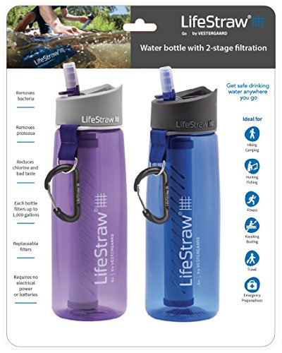 LifeStraw Go Water Bottle 2-Pack with Built-in 2-Stage Filtration – $59.96 / Set