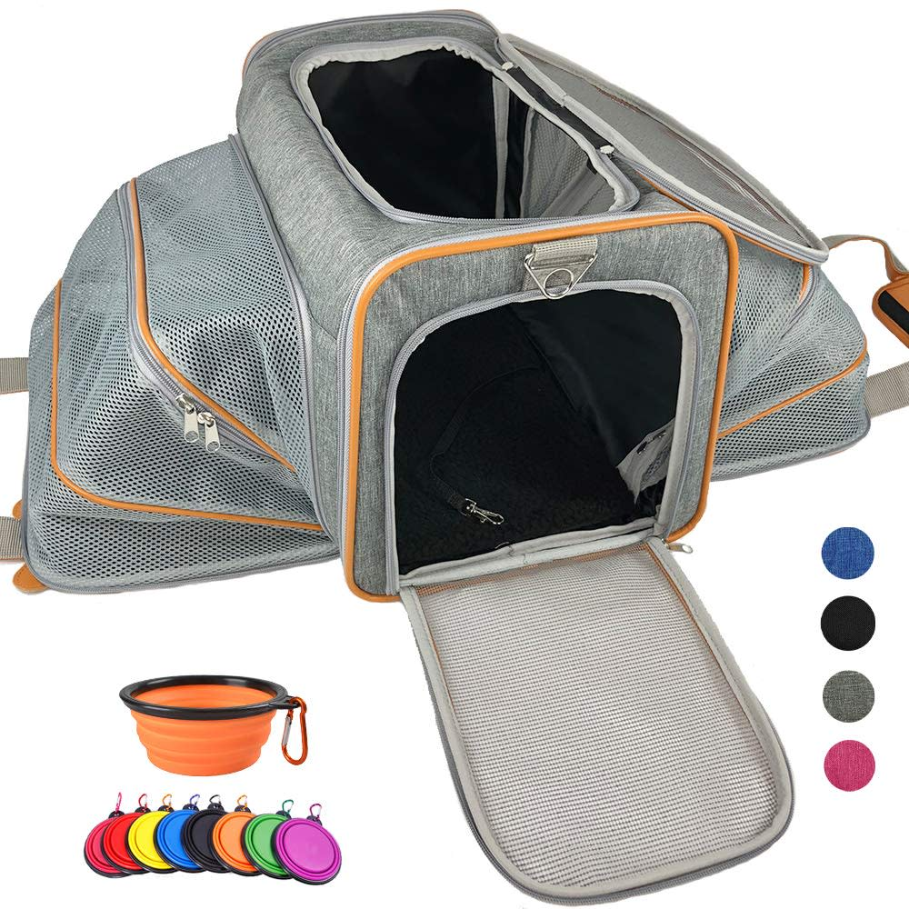 Adorabae Expandable Luxury Pet Carrier for $20 + free shipping