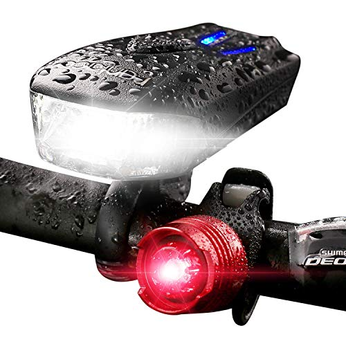 Raniaco Front and Back Bike Light Set for $10 + free shipping