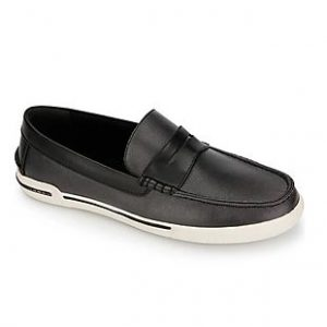 Mens G fitting Acre Out black leather slip on shoe by Clarks £44.99