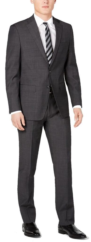 Calvin Klein Men's Slim-Fit Herringbone Suit for $84 + free shipping