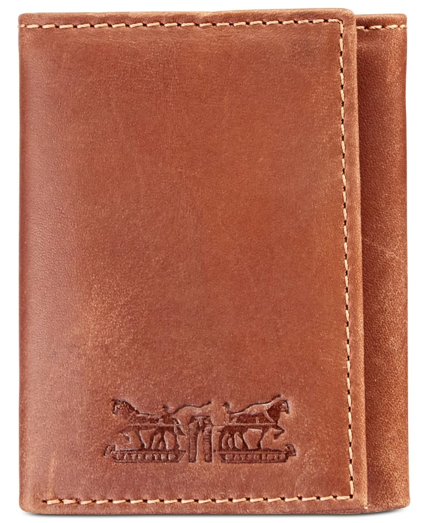 Levi's Men's Embossed RFID Leather Tri-Fold Wallet for $20 + free shipping
