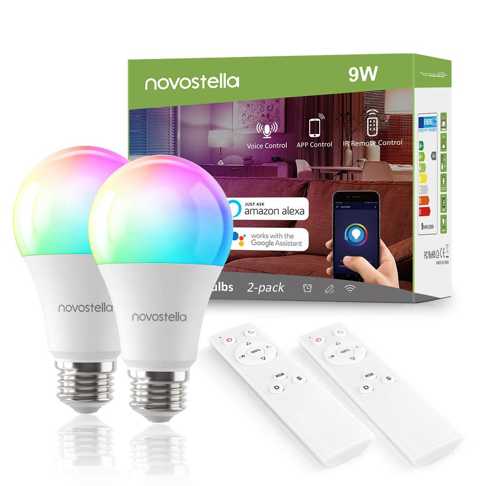 Novostella Smart WiFi Light Bulb 2-Pack for $18 + free shipping