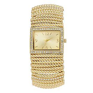 Gold-Tone Bracelet Watch $19